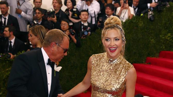 """Actress Kate Hudson arrives at the Metropolitan Museum of Art Costume Institute Gala 2015 celebrating the opening of """"China: Through the Looking Glass,"""" in Manhattan"""