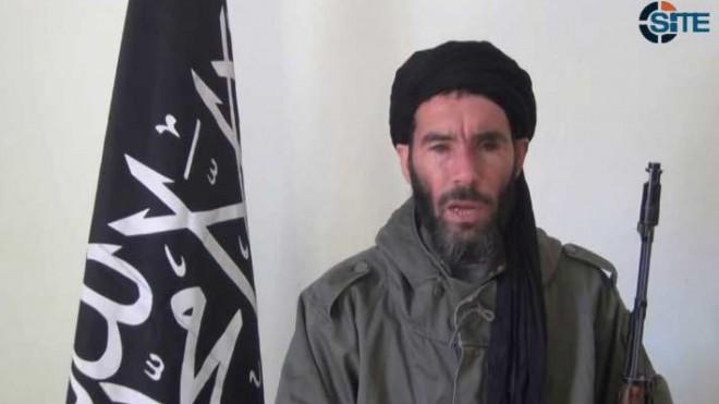 A video still purportedly shows militant militia leader Moktar Belmoktar, who is reportedly behind the hostage crisis.
