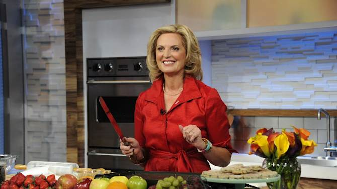 """This image released by ABC shows Ann Romney, wife of Republican presidential hopeful Mitt Romney during a cooking segment on """"Good Morning America,"""" Wednesday, Oct. 10, 2012 in New York. Romney served as a guest co-host on the popular morning show. (AP Photo/ABC, Ida Mae Astute)"""