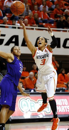 No. 16 Okla. St. women top Stephen F. Austin 85-41