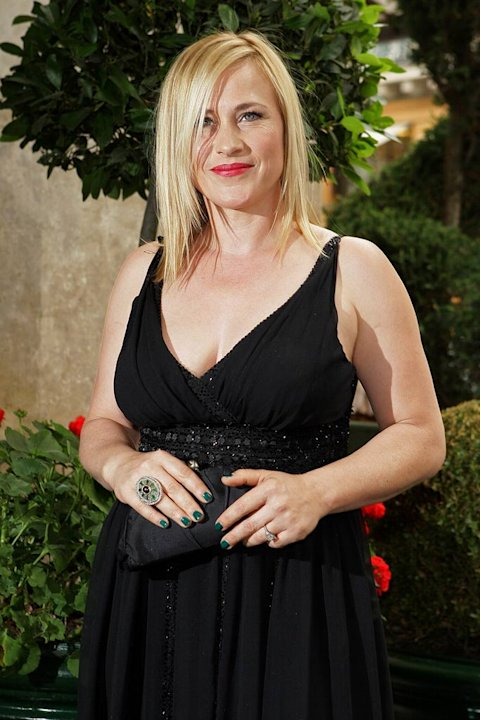 Patricia Arquette arrives at the Elie Saab '09 Fall Winter Haute Couture fashion show during Paris Fashion Week on July 2, 2008 in Paris, France.