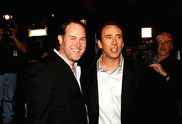 Jon Turteltaub and Nicolas Cage at the LA premiere of Touchstone's National Treasure