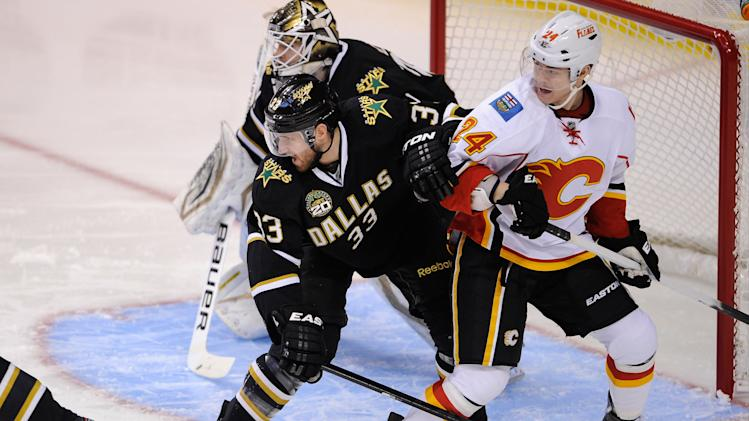 NHL: Calgary Flames at Dallas Stars