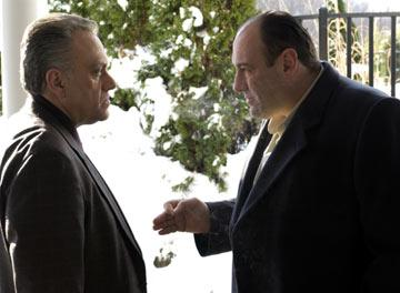 Vincent Curatola and James Gandolfini HBO's The Sopranos