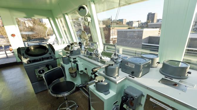 In this Dec. 18, 2012 photograph, visitors to the Lower Mississippi River Museum in Vicksburg, Miss., have the opportunity to sit at a captain's chair in the pilot house of the Motor Vessel Mississippi IV, a U.S. Army Corps of Engineers towboat that floated up and down the Mississippi River. The museum provides visitors with a extensive look at life surrounding the Mississippi River through several centuries by way of its interactive and static displays, while the Motor Vessel Mississippi IV exhibits show how crews worked and lived on the towboats. (AP Photo/Rogelio V. Solis)
