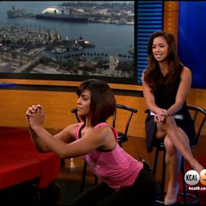 Author Maria Kang Demonstrates Exercises From 'The No More Excuses Diet' Book