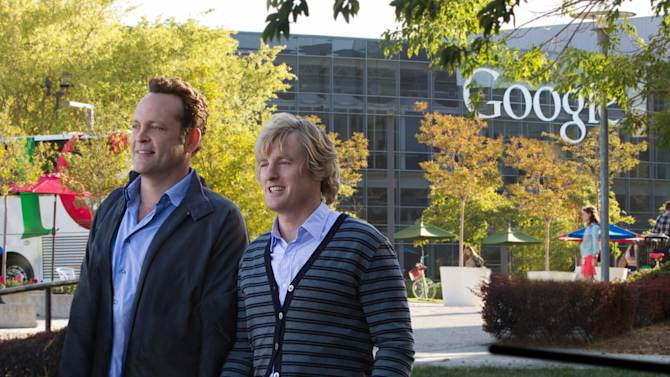 """This film publicity image released by 20th Century Fox shows Owen Wilson, right, and Vince Vaughn in a scene from """"The Internship."""" (AP Photo/20th Century Fox, Phil Bray)"""