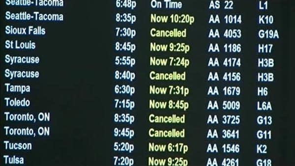 SFO flights canceled due to East Coast storm