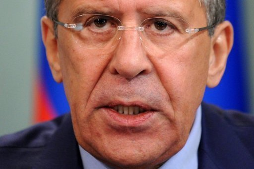 Russian Foreign Minister Sergei Lavrov (seen here on June 15 in Moscow) on Friday met his Syrian counterpart Walid al-Muallem, urging Damascus to do more to implement the plan of peace envoy Kofi Annan