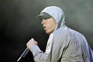 U.S. rapper Eminem performs during the Abu Dhabi F1 Grand Prix After Race closing concert at the du Arena on Yas Island