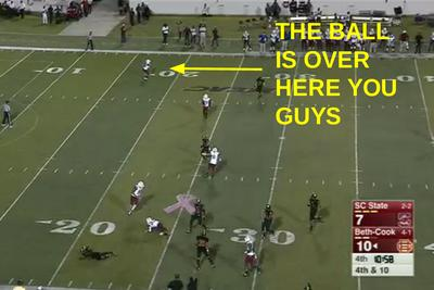 South Carolina State pulls off the fake punt returner trick for a touchdown