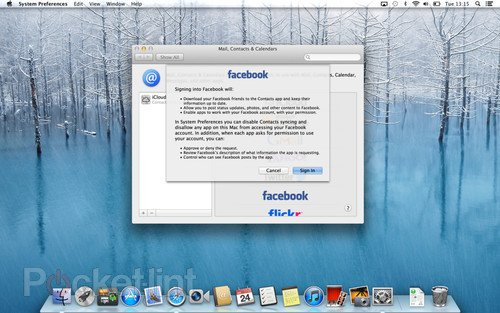 Facebook in OS X Mountain Lion details, we go hands-on. Apple, Facebook, Software, Operating Systems, OS X, Mac software 0