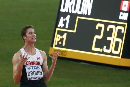 Canada's Drouin wins high jump gold in sudden death