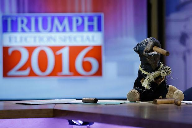 Triumph the Insult Comic Dog Talks Politics With College Kids (Video)