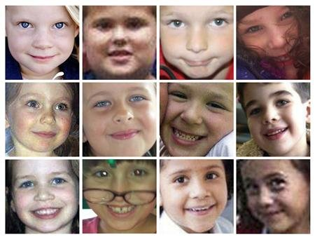 A combination of 12 handout pictures shows 12 of 20 young schoolchildren killed at Sandy Hook Elementary School in Newtown, Connecticut on December 14 in one of the worst mass shootings in U.S. history. REUTERS/Handout