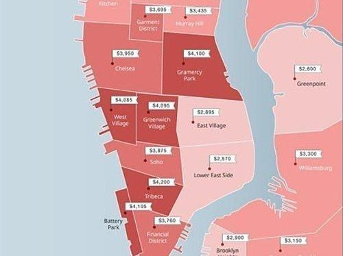 October's Priciest and Cheapest Places to Rent, Mapped