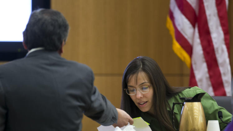evidence to show Jodi Arias during cross examination during the Jodi