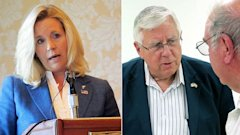AP Liz Cheney Mike Enzi nt 130718 16x9 608 Liz Cheney to Abandon Wyoming Senate Bid, GOP Officials Say