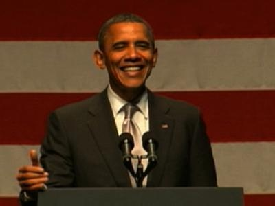 Obama Congratulates Heat during Miami Fundraiser