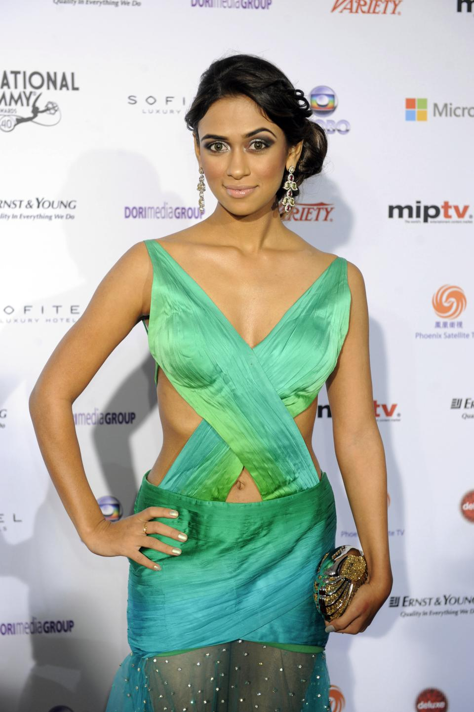 Indian actress Prerna Wanvari arrives at the 40th International Emmy Awards,  Monday, Nov. 19, 2012 in New York.  (AP Photo/Henny Ray Abrams)