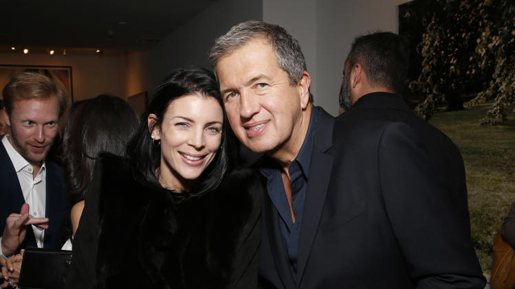 IMAGE DISTRIBUTED FOR PORTON - Liberty Ross and Mario Testino celebrate the Peruvian native's Fashion Icon Exhibit with cocktails by Porton at Prism on Saturday February 23, 2013 in Los Angeles. (Photo by Todd Williamson/Invision for Porton/AP)