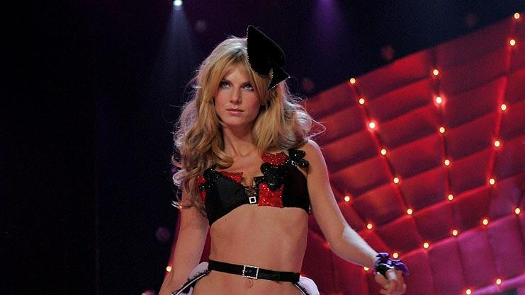 Angela Lindvall walks the runway at the Victoria's Secret Fashion Show 2006 on CBS.