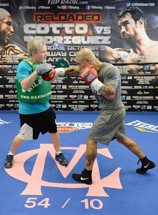 Miguel Cotto Training Session