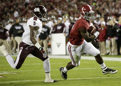 No. 1 Alabama rolls past No. 13 MSU, 38-7