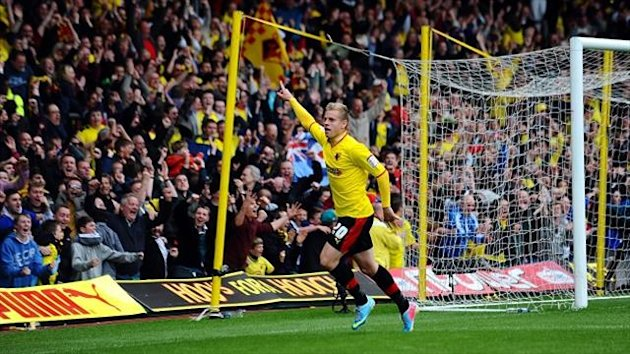 Loanee Matej Vydra's goals almost took Watford to the top flight