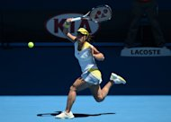 Ayumi Morita of Japan plays a return at the Australian Open tennis tournament in Melbourne on January 19, 2013. Morita shrugged off a three-day battle with the rain to reach the Pattaya Open quarter-finals on Thursday, beating former world number one Ana Ivanovic and compatriot Kimiko Date-Krumm