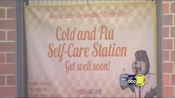 Fresno State helps students avoid the flu