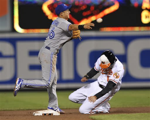 Orioles use early outburst to beat Blue Jays 4-3
