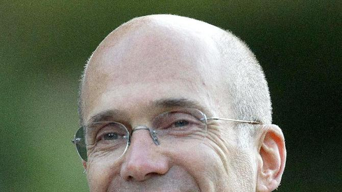 """FILE - In this July 7, 2011, file photo, Jeffrey Katzenberg, CEO of DreamWorks Animation is seen in Sun Valley, Idaho. John Ramsey stands out in a new campaign finance world order filled with big names like Republican casino mogul Sheldon Adelson and Democratic Hollywood producer Jeffrey Katzenberg. The little-known senior at Stephen F. Austin University.is the founder of a team of college-aged Republicans that liberals have dubbed the """"Brat PAC,"""" which helped propel one congressional candidate to victory and intends to get involved in other House races. And he's just the latest wealthy individual to try to influence federal elections in the wake of a series of federal court decisions that deregulated the campaign finance system and dramatically changed the country's political landscape.  (AP Photo/Julie Jacobson, File)"""