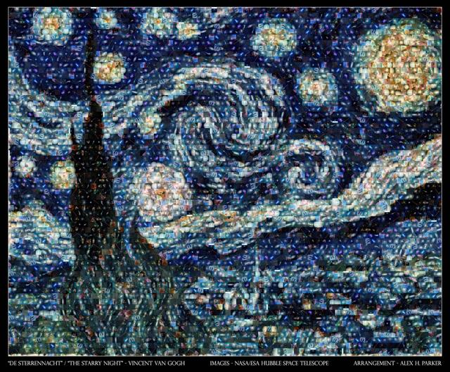 Take 100 NASA Photos, Stir, Make Van Gogh's 'Starry Night'