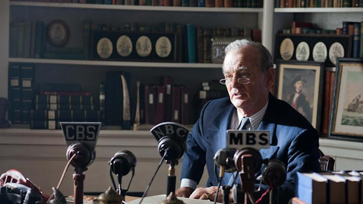 "FILE - This undated publicity film image released by Focus Features shows Bill Murray as Franklin D. Roosevelt in a scene from ""Hyde Park on Hudson."" (AP Photo/Focus Features, Nicola Dove, File)"