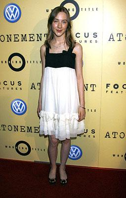Saoirse Ronan at the Beverly Hills premiere of Focus Features' Atonement