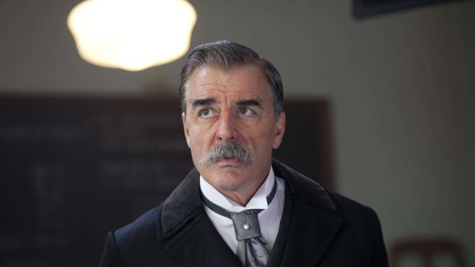 """This image released by Encore shows actor Chris Noth portraying J.P. Morgan in a scene from the Encore cable channel 12-hour miniseries, """"Titanic: Blood and Steel.""""   The series will premiere on six consecutive nights, with two episodes airing back to back, on Encore beginning Monday at 8 p.m. EDT. (AP Photo/Encore)"""