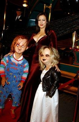 Jennifer Tilly with Chucky and Tiffany at the Los Angeles premiere of Rogue Pictures' Seed of Chucky