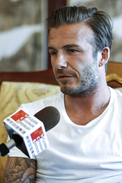 David Beckham Visits China - Day 1