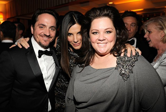 2013 Vanity Fair Oscar Party Hosted By Graydon Carter - Inside: Sandra Bullock and Melissa McCarthy