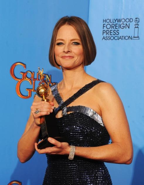 Jodie Foster, winner of the Cecil B. De Mille Award, poses in the press room during the 70th Annual Golden Globe Awards held at The Beverly Hilton Hotel in Beverly Hills, Calif., on January 13, 2013 -- Getty Images