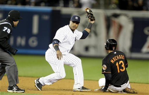 Yankees turn triple play in win over Orioles