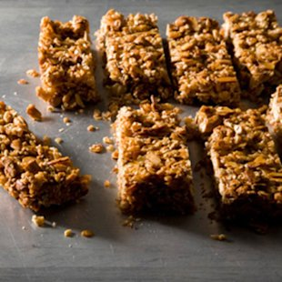 Chewy Nut and Cereal Bars. Photo by Stephanie Foley