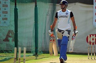 Suresh Raina in practice in Ahmedabad. 