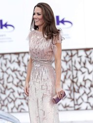 As an Olympic ambassador, we've already seen Kate Middleton kitted out in coral jeans to play a spot of hockey and this evening, the Duchess of Cambridge