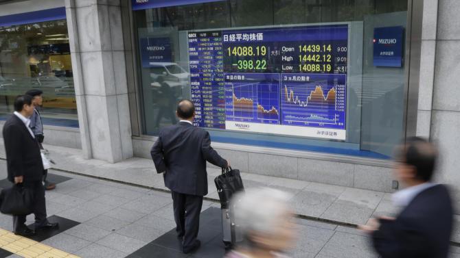 Markets steady despite big slide in Nikkei