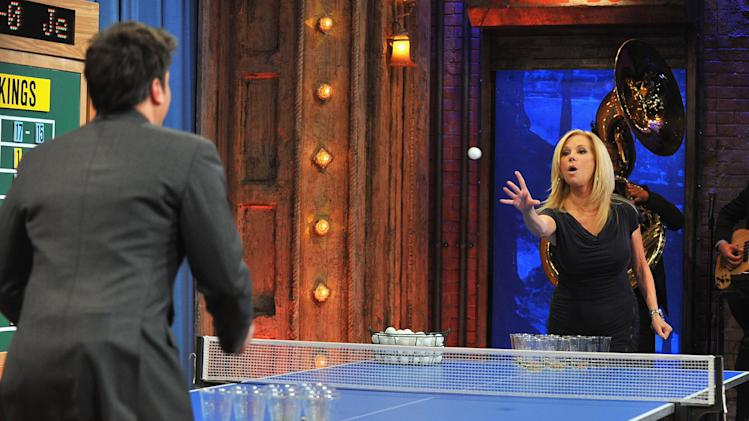 "Kathie Lee Gifford Visits ""Late Night With Jimmy Fallon"""