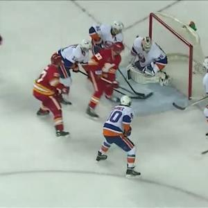 Sean Monahan scores on his backhand