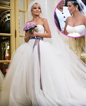 Kim Kardashian Copies Kate Hudson's Bride Wars' Wedding Dress