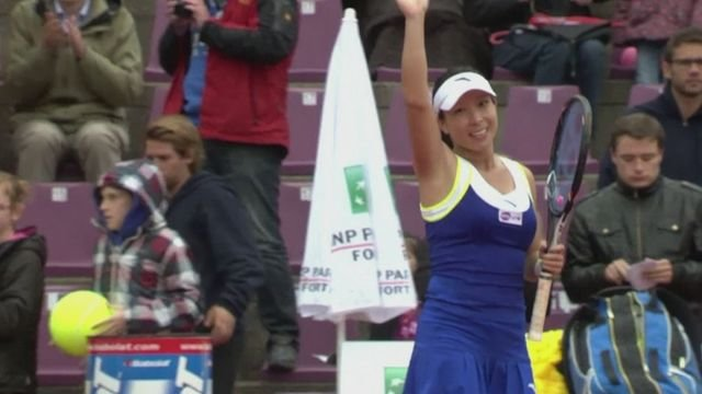 Wozniacki beaten by Zheng at the Brussels Open